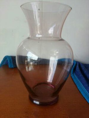 Amber glass vase for Sale in West Palm Beach, FL