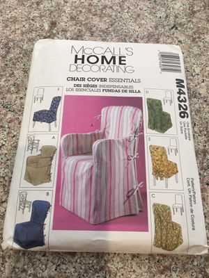 New McCalls chair cover pattern for Sale in Laguna Woods, CA