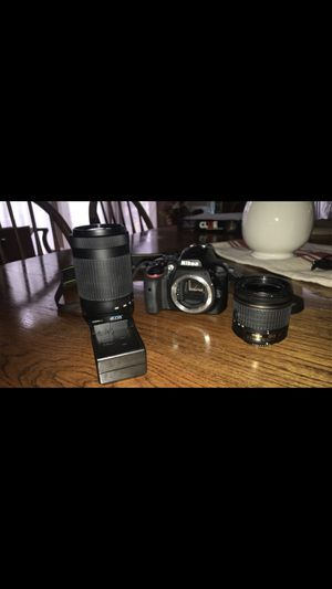 Nikon D3400 with Lenses for Sale in Tacoma, WA