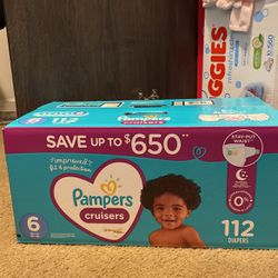 Pampers Cruisers Size 6 (116 Diapers) for Sale in Charlotte,  NC