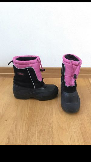 Totes girls pink and black winter boots Size 3M for Sale in Appleton, WI