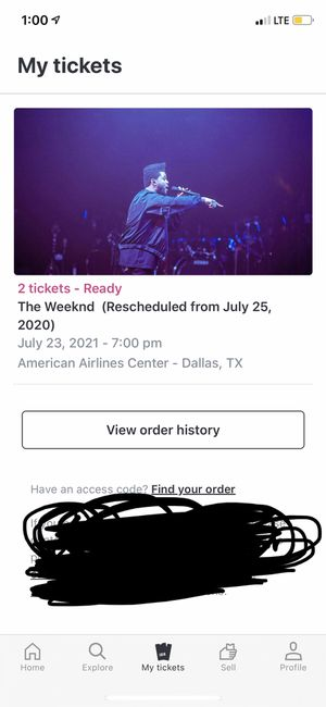 2 tickets The Weeknd for Sale in Mesquite, TX