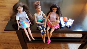 """Barbie Dolls set - 2x Barbie dolls (11.5"""" tall), one 11"""" doll, and one baby for Sale in Golden, CO"""