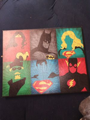 Justice league printed painting for Sale in Portsmouth, VA