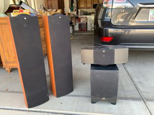KEF tower speakers S series/ sub and center speaker for Sale in Phoenix, AZ