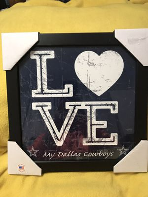 LOVE. My Dallas Cowboys Wall Hanging for Sale in Sioux Falls, SD