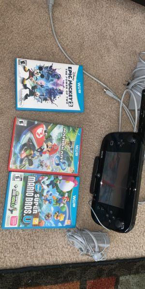 Nintendo Wii U black for Sale in Avondale, AZ