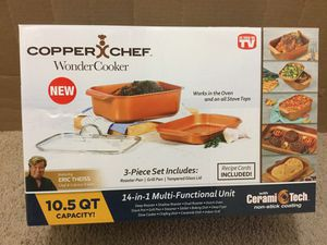 Cooking Pan Wonder Cooker Copper Chef only $24 for Sale in Cypress, CA
