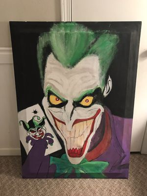 "ORIGINAL OIL PAINTING - "" Batman's Joker "" MAKE AN OFFER for Sale in Woodinville, WA"