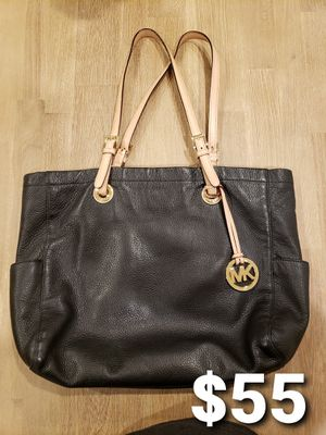 Michael Kors Black Leather Tote Bag for Sale in Covina, CA