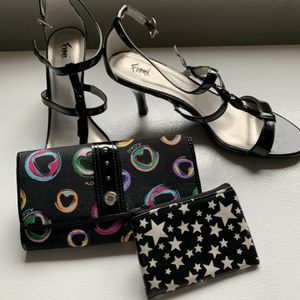 Fiona Women's Heels Size 9 1/2 Bundled With XOXO Wallet & Change Purse for Sale in Millmont, PA