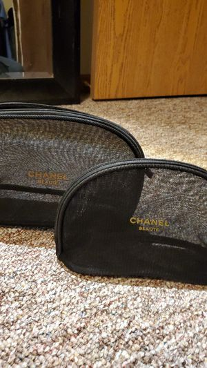 Two piece chanel cosmetic bags for Sale in Rockford, IL