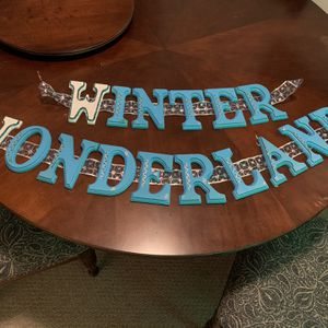 Winter Wonderland Wooden Letters for Sale in St. Petersburg, FL