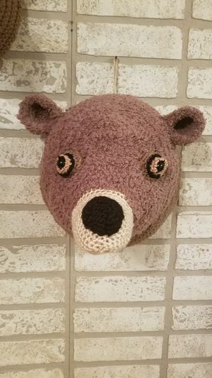 Crochet large brown bear for Sale in Independence, KS
