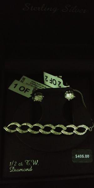 Brand new still in box diamond earrings and bracelet for Sale in Bakersfield, CA