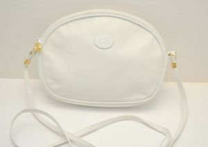 Pre-Owned Vintage Authentic GUCCI GG White Leather Small Shoulder Crossbody Bag for Sale in Henderson, NV