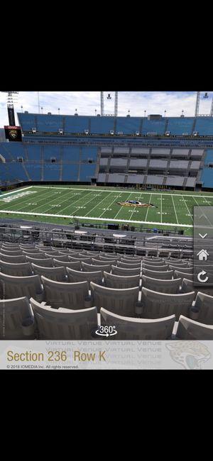Jaguar vs patriot tickets for Sale in Jacksonville, FL