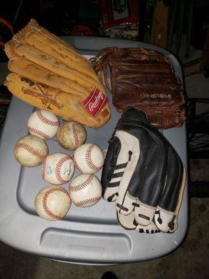 Baseball gloves and balls for Sale in Portsmouth, VA