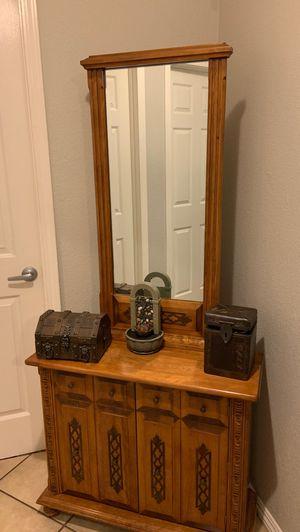 Antique Hutch with mirror/ vintage for Sale in Santee, CA