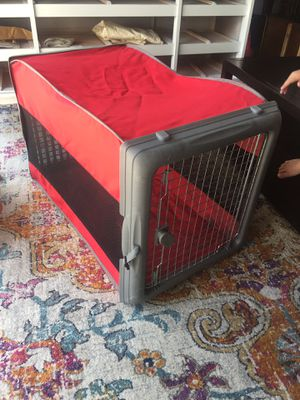 crate for big dogs (folding one) for Sale in Los Angeles, CA