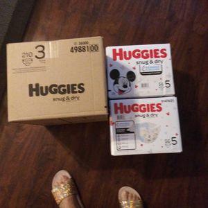Huggies pampers for Sale in Pennsauken Township, NJ