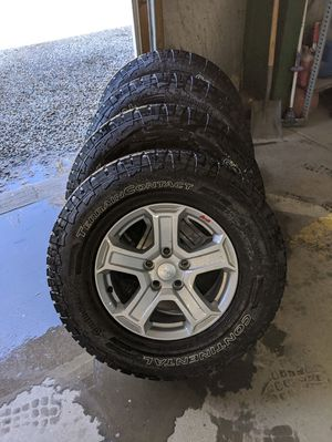 """17"""" Wheels and Tires for Jeep with 5x5 lug pattern for Sale in Canonsburg, PA"""