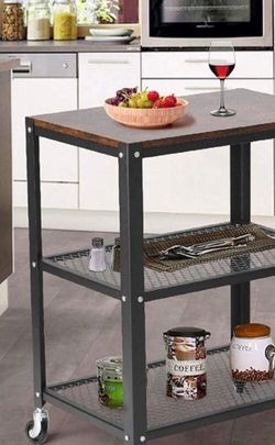 Island/ Storage Rack with Wheels 3 Tiers Storage for Sale in Rancho Cucamonga,  CA