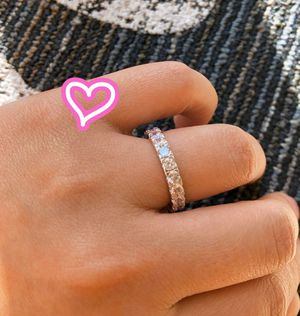 18K White Gold Plated Infinity Ring Band for Sale in San Ramon, CA