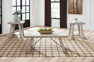 Ashley Furniture Whitewash Coffee Table and End Table Set (Set of 3) for Sale in Santa Ana, CA