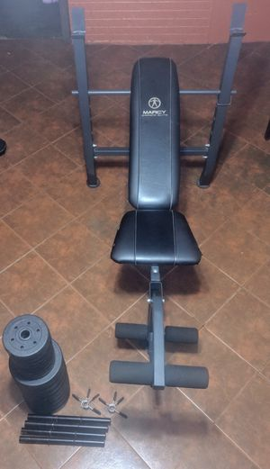 Marcy standard weight bench & Golden Gym dumbbell set for Sale in New Orleans, LA