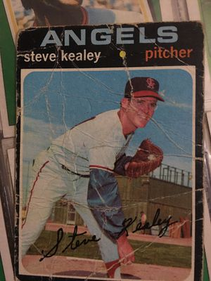 Baseball card Steve Kealey 1971 autographed pitcher for Sale in Norwalk, CA