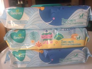 Pampers Complete Clean Baby Fresh Scent Pop Top 72x3Pack Wipes for Sale in Sayreville, NJ