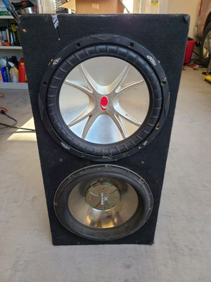 """2 12"""" subs and box for Sale in Phoenix, AZ"""