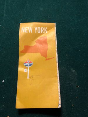 American Oil Company road map. New York State April 1970 for Sale in Woodbury, PA
