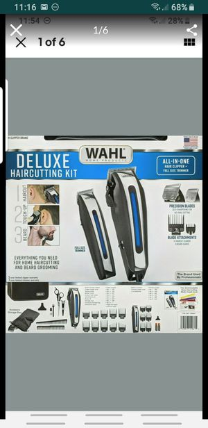 Wahl Deluxe Complete Hair Cutting Kit 29 Piece Clipper Set with Beard Trimmer. Conditio for Sale in Irvine, CA