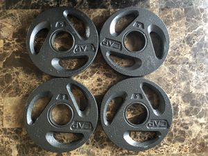 Four 5 lbs Weight Plates for Sale in Bethesda, MD