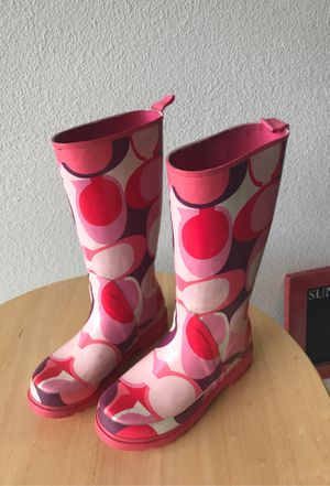 Coach rain boots for girls for Sale in Woodway, WA