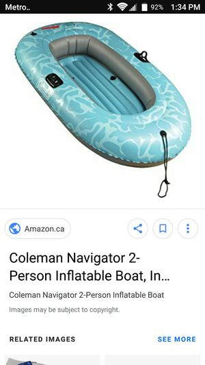 Coleman 2 Person Inflatable Boat with Oars for Sale in Miami, FL
