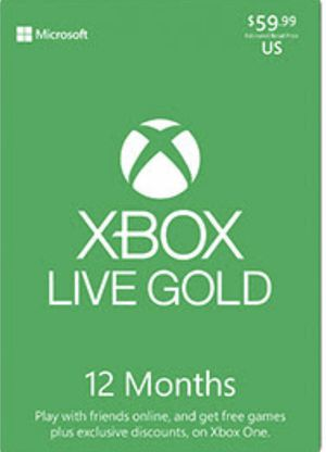 XBOX LIVE GOLD 12 months for Sale in Peoria, IL