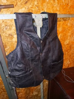 Men's leather 3XL biker motorcycle vest for Sale in Roswell, GA