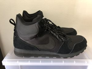 18e33ae57b4 Nike MD Runner 2 Mid Men s Sneaker Boots 844864-004 Black Anthracite Sz 12.5