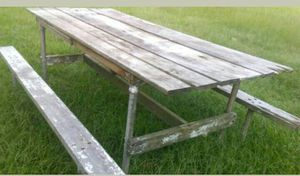Beautiful distressed wood picnic table for Sale in Morton, MS