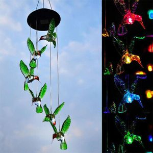 Color-Changing LED Hummingbird Solar Wind Chimes Yard Home Garden Decor for Sale in Riverside, CA