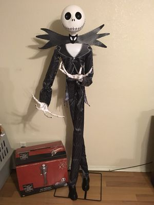 Gemmy Lifesize Animated Jack Skellington Nightmare Before Christmas Halloween Prop for Sale in Rockwall, TX
