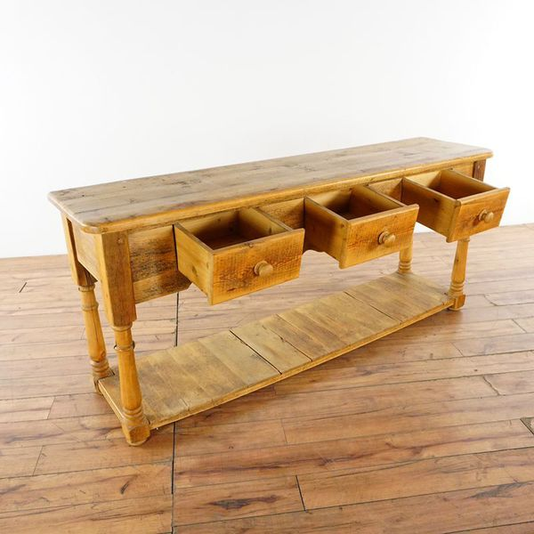 English Pine Console Table (1021093)