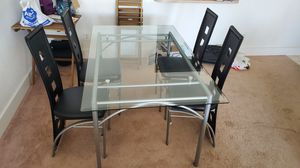 Glass Kitchen Table with 4 chairs for Sale in SUNNY ISL BCH, FL