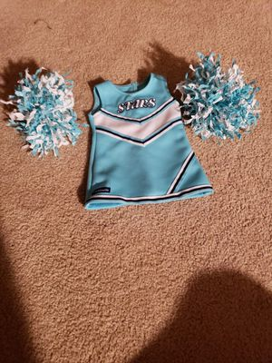 American girl cheerleading outfit~Including dress with pom poms~doll NOT included for Sale in Wausau, WI