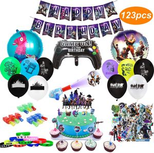 Birthday Party Supplies for Game Fans, 123pcs Gaming Theme Party Decorations for Sale in Altamonte Springs, FL