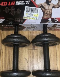 NEW DUMBELL SET ADJUSTABLE 40 LBS for Sale in Chicago,  IL