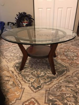 Glass end tables and Matching Glass Coffee Table. for Sale in Joppa, MD